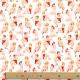 Tissu Coton Cretonne Pin-up - Blanc