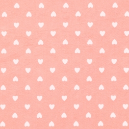 Tissu Coton Coeur d'amour - Rose