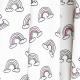 Tissu Jersey Magic UV Arc-en-ciel - Blanc