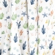 Tissu Popeline Bio Plantes Aquatiques - Blanc