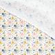 Tissu Popeline Bio Pieuvres & Poissons - Blanc