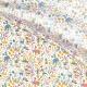 Tissu Coton Cretonne Animaux Sauvages - Blanc