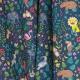 Tissu Coton Cretonne Animaux Sauvages - Bleu marine