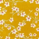 Tissu Coton Enduit Amandier - Jaune curry