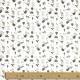 Tissu Popeline Bio Leopard Rockeur - Blanc