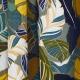 Tissu Rayonne Feuilles Exotiques - Gris & Multicolore