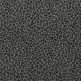 Tissu Jersey Léopard - Vert kaki