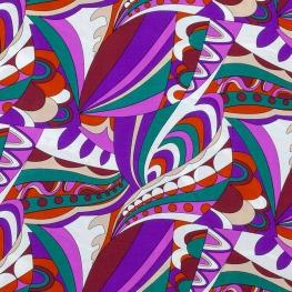 Tissu Viscose Vintage 70s - Mauve