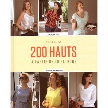 Livre couture, 200 Hauts du 34 au 54