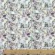 Tissu Popeline Bio fleurs de campagne - Violet