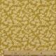 Tissu Popeline Coton Trait de Fleurs - Moutarde