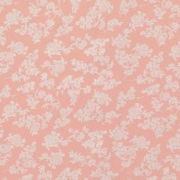Tissu Popeline Coton Trait de Fleurs - Rose