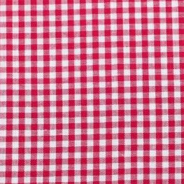 Tissu petit vichy - Rouge