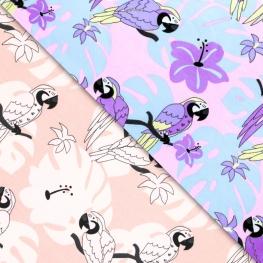 Tissu Jersey Magic UV Perroquet - Rose