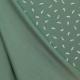 Tissu Jersey Plume - Vert