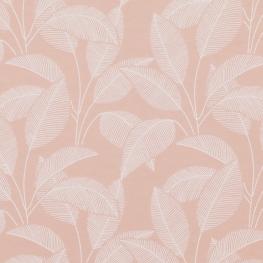 Tissu Jersey feuille - Rose