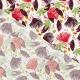 Tissu Coton Enduit Saori - Rouge & Violet prune