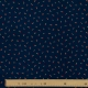 Tissu Popeline Cerises Cherry - Bleu marine