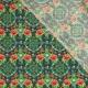 Tissu Popeline Fleurs Psychédélique - Vert