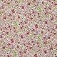 Tissu Popeline Fleurs Avrilette - Rose