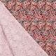 Tissu Popeline Aquarelle de Fleurs - Crème