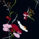 Tissu Viscose Fleurs des Champs- Bleu marine