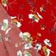 Tissu Viscose Fleurs des Champs - Bleu rouge