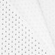 Tissu coton double gaze Ancre marine - Blanc