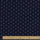 Tissu coton double gaze Ancre marine - Bleu marine
