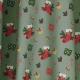 Tissu Popeline Chaussettes et cadeaux de Noël - Vert de gris