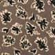 Tissu Viscose Fleurs Calligraphie - Marron