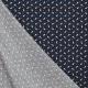 Tissu Popeline Fusées et Etoiles - Bleu marine