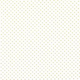 Tissu Popeline Coton Point Argenté - Blanc