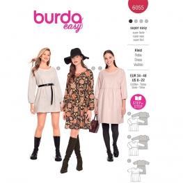Patron Robe à jupe froncée - Burda 6055