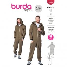 Patron Combinaison homme à capuche - Burda 6065