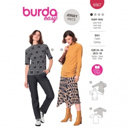 Patron T-shirt à manches raglan - Burda 6067