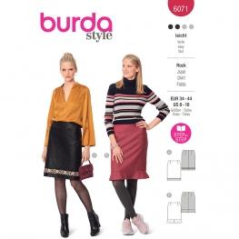 Patron Jupe – forme droite et longueur genou - Burda 6071