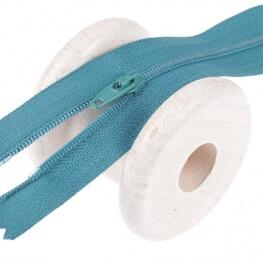 Fermeture à glissière fine - Bleu moyen