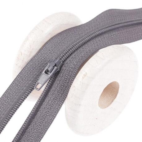 Fermeture à glissière fine - gris flanelle