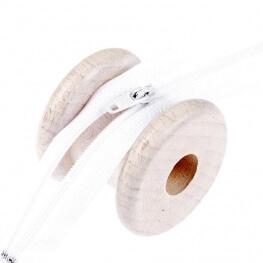 Fermeture à glissière fine  - Blanc