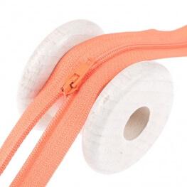 Fermeture à glissière fine - Orange clair
