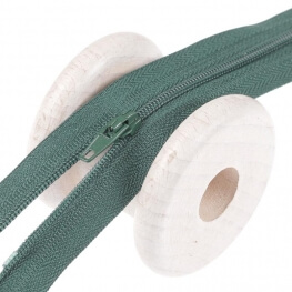 Fermeture à glissière fine - Vert sapin