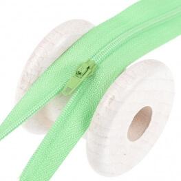 Fermeture à glissière fine - Vert clair