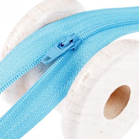 Fermeture à glissière fine - Bleu turquoise