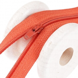 Fermeture à glissière fine - Orange rouille