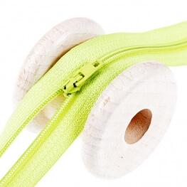 Fermeture à glissière fine - Vert anis