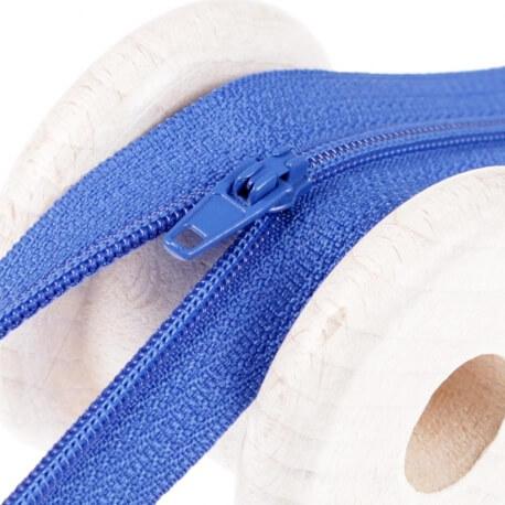 Fermeture à glissière fine - Bleu