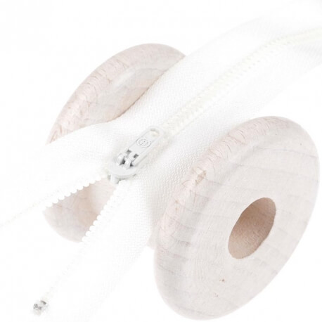 Fermeture à glissière pantalon - Ecru