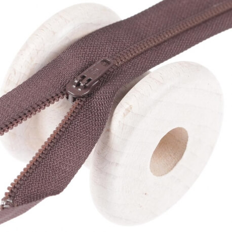 Fermeture à glissière pantalon - Marron