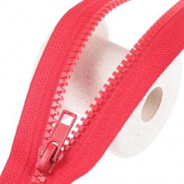Fermeture à glissière séparable - Rouge
